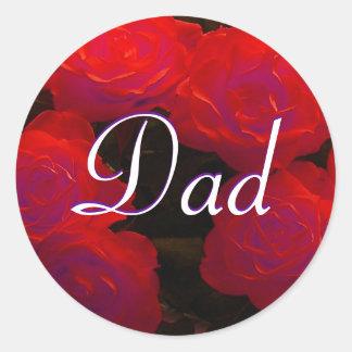 Dad Red Roses Sticker Sticker