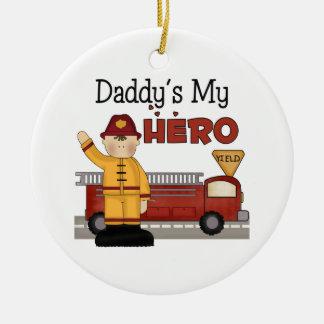 Daddys meus enfeites de natal do sapador-bombeiro