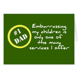 Dadism engraçado, o melhor cartão do pai