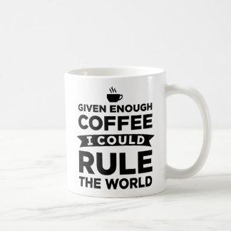 Dado bastante café eu poderia ordenar as canecas