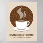 Dado bastante impressão do poster da arte do café