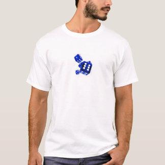Dados azuis camiseta