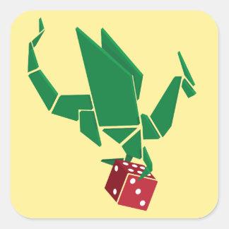 Dados do dragão - etiqueta