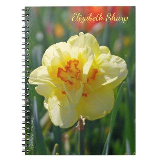 Daffodil amarelo caderno espiral