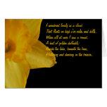 Daffodil amarelo; Cartão de nota do poema de Willi