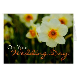 Daffodil • Cartão das felicitações do casamento