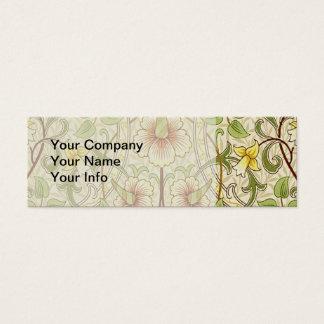 Daffodil na moda do papel de parede floral do cartão de visitas mini