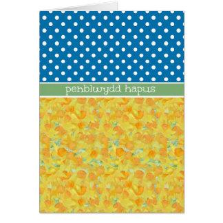 Daffodils, cumprimento de Galês do cartão de