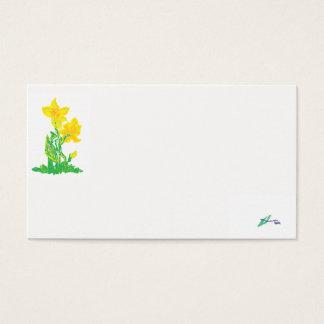 Daffodils do cartão de negócio