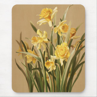 Daffodils Mousepad do vintage