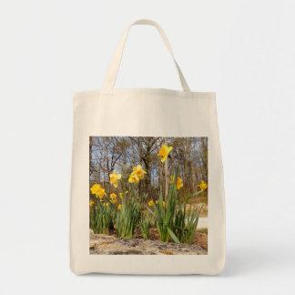 Daffodils na sacola do mantimento da páscoa bolsa tote