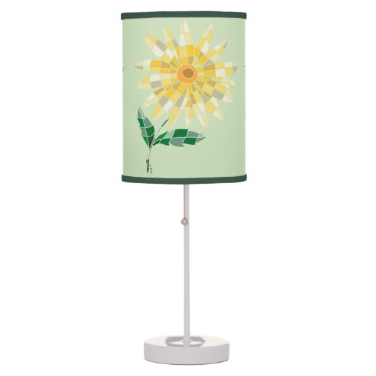 Daisy Stained Glass Lampshade Lamp - Abajur