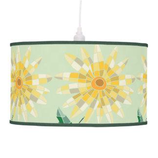 Daisy Stained Glass Pendant Lamp - Luminária
