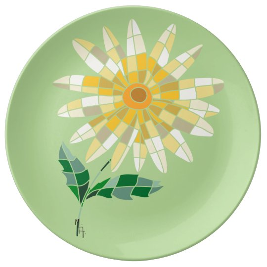 Daisy Stained Glass Plate - Prato Margarida