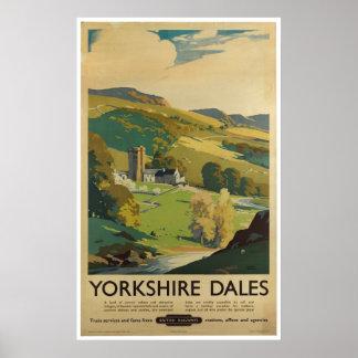 Dales Inglaterra de Yorkshire do poster das