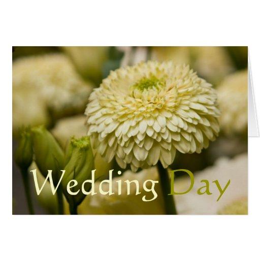 Dália • Cartão das felicitações do casamento