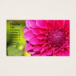 Dália cor-de-rosa brilhante floral cartão de visitas