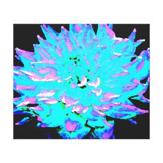 Dália do azul do Aqua Impressão Em Tela