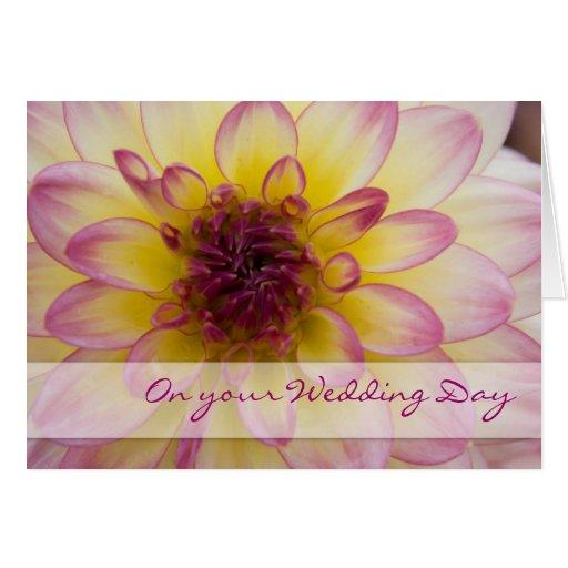 Dália roxa • Cartão das felicitações do casamento