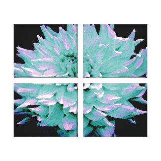 Dália tonificada azul do grande Aqua Impressão Em Tela