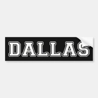 Dallas Texas Adesivo De Para-choque
