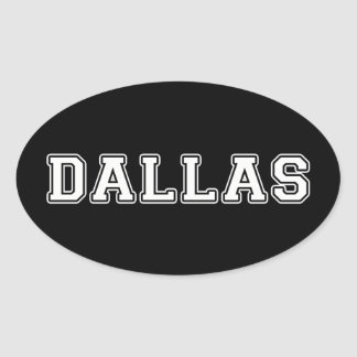 Dallas Texas Adesivo Oval