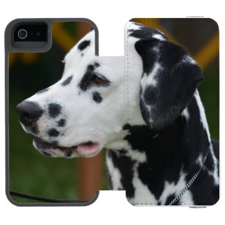 Dalmatian com pontos capa carteira incipio watson™ para iPhone 5