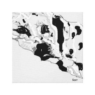 Dalmatian da cópia do envoltório das canvas