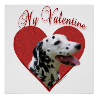 Dalmatian preto meu poster dos namorados