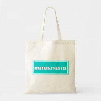 Dama de honra azul que Wedding a sacola enorme Sacola Tote Budget