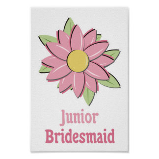 Dama de honra cor-de-rosa do júnior da flor posteres