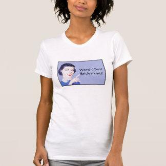 dama de honra da mulher apontando dos anos 50 camisetas