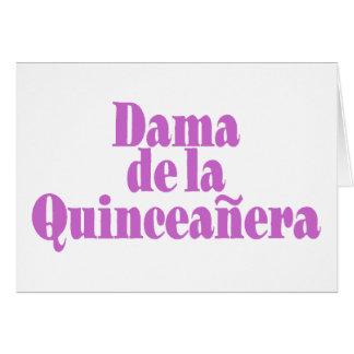 Dama de las Quinceanera Cartão Comemorativo