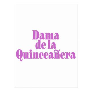 Dama de las Quinceanera Cartão Postal