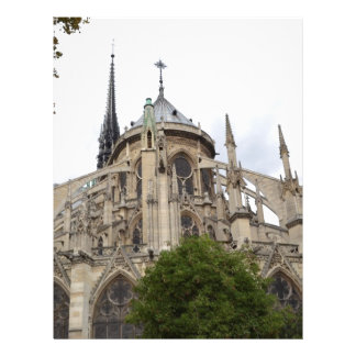Dama Vôo Buttresses.jpg de Paris-Notre Modelos De Papel De Carta