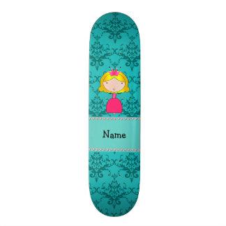 Damasco conhecido personalizado de turquesa da pri shape de skate 20,6cm