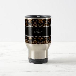 Damasco conhecido personalizado do ouro caneca térmica