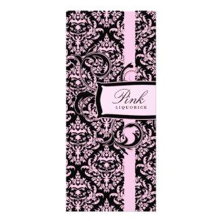 Damasco cor-de-rosa do Liquorice de 311 Julianna Panfleto Informativo Personalizado