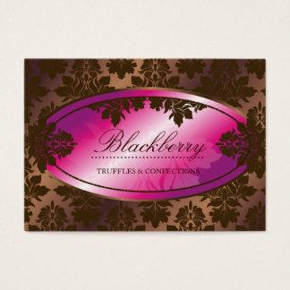 damasco da trufa de chocolate de 311-Sweet Cartão De Visitas