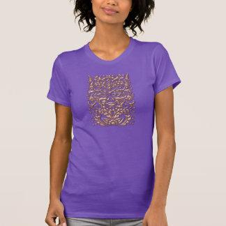 damasco de cobre líquido de 3D GreenMan no cetim Camisetas