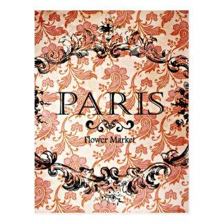 Damasco de Paris do vintage Cartão Postal