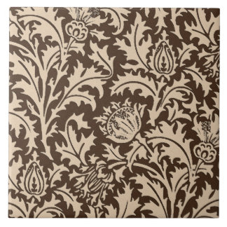 Damasco do cardo de William Morris, Taupe Tan &