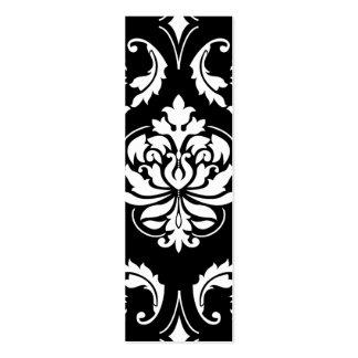 Damasco do diamante no branco no preto modelo de cartões de visita