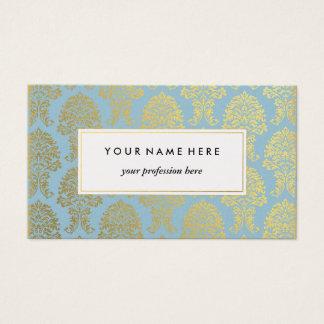 Damasco do ouro na luz - cartão de visita azul do