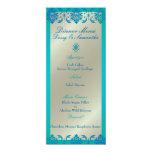 Damasco do vendome do azul de pavão de PixDezines, Convite Personalizado