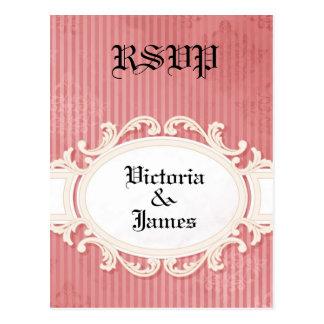Damasco do Victorian - cartão de RSVP Cartão Postal