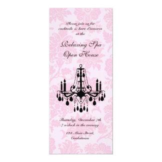 Damasco do Victorian do rosa da casa aberta Convite Personalizado