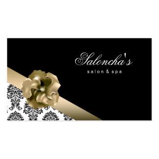 Damasco floral do ouro do preto do cartão de visit modelo cartao de visita