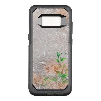 Damasco inglês Toule dos rosas do pêssego Capa OtterBox Commuter Para Samsung Galaxy S8