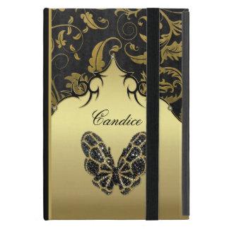 Damasco Jeweled da borboleta Capa iPad Mini